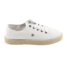Ballerinas espadrilles femei pantofi alb Big star 274423