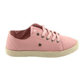Big Star Ballerinas espadrilles pantofi pentru femei roz Big stea 274425