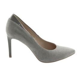 Pompe pe pantofi de pantofi ANIS de culoare gri