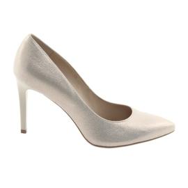 Pantofi din piele pentru femei din piele Anis 4527 galben