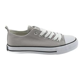 American Club Adidașii legați cu pantofi de culoare gri pentru femei americane