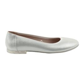 Gri Pantofi de balerină pentru femei argint Sergio Leone BL607