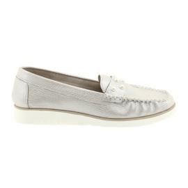 Sergio Leone Loafers femei pantofi bej perla
