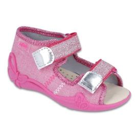 Roz Pantofi de copii galbeni de la Befado 342P001