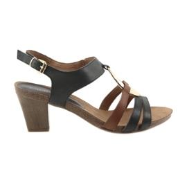 Caprice Capriciu femei sandale de aur oval
