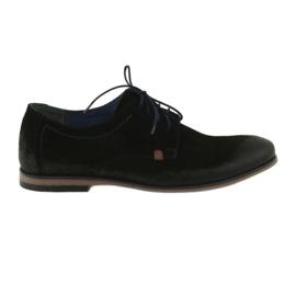 Pantofi de piele pentru bărbați Nikopol 1709 negru