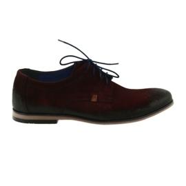 Pantofi de piele pentru bărbați Nikopol 1709 burgundă