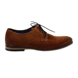 Pantofi de piele pentru bărbați Nikopol 1709 Camel suede