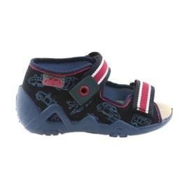 Befado galben pantofi pentru copii 350P003 bleumarin