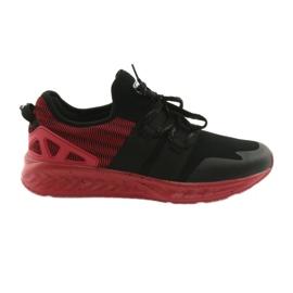 Pantofi sport bărbați DK 18332 negru / roșu