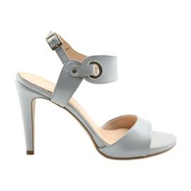 Sandale piele pe un pin Edeo 3208 gri