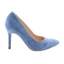 Pompe pe pantofi femei Edeo 3313 albastru