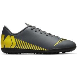 Nike Mercurial Vapor X 12 Club Tf Jr AH7355-070 Pantofi de fotbal gri