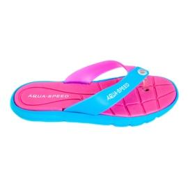 Papuci Aqua-Speed Bali roz-albastru 03 479