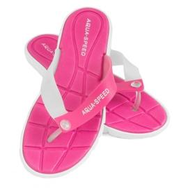 Papuci Aqua-Speed Bali roz și alb 05 479