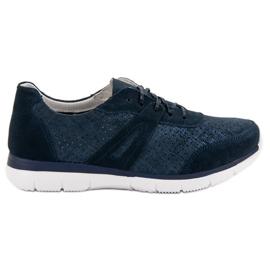 Filippo Navy Pantofi sport din piele albastru
