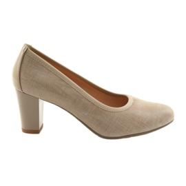Încălțăminte pentru femei încălțăminte elastică Arka 5137 bej maro