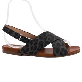 Kylie negru Spotted Sandals