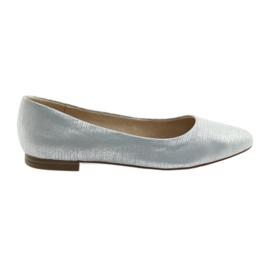 Ballerinas pompe Caprice 22104 albastru de argint