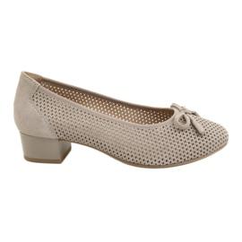 Pantofi pentru femei Caprice 22501 bej auriu