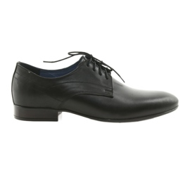 Pantofi pentru bărbați clasic de panza Nikopol 1693 negru