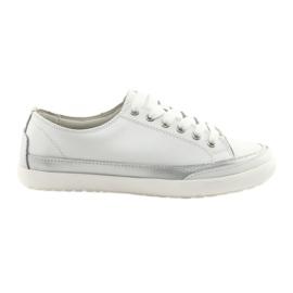 Pantofi sport femei țesute Filippo 703 alb și argintiu