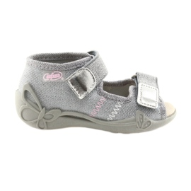Gri Befado pantofi pentru copii 342P002 argintiu