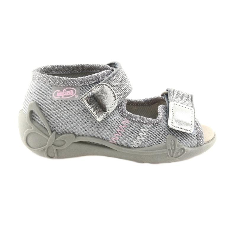 Befado pantofi pentru copii 342P002 argintiu gri