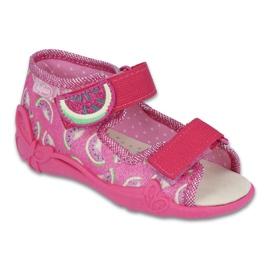 Roz Pantofi pentru copii galbeni de la Befado 342P004