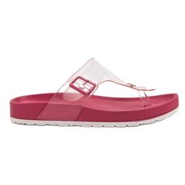 Seastar roz Flip Flops transparente
