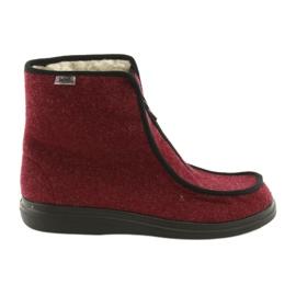 Befado femei pantofi pu 996D005 burgundă