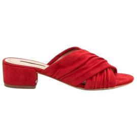 Corina roșu Modă Papuci