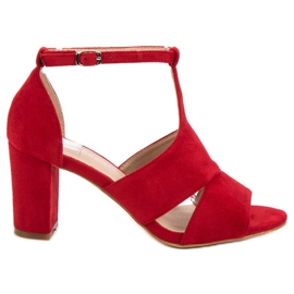 Vinceza roșu Sandale roșii