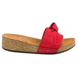 Suede Papuci VINCEZA roșu