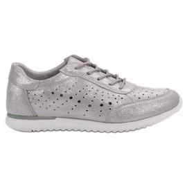 Kylie Pantofi din piele de argint gri
