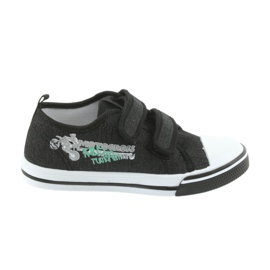 Negru Pantofi de Velcro Motocross Atletico 1809 black