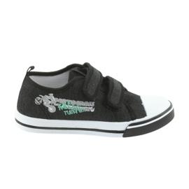 Pantofi de Velcro Motocross Atletico 1809 black negru