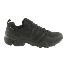 Negru Atletico 8008 pantofi sport negri