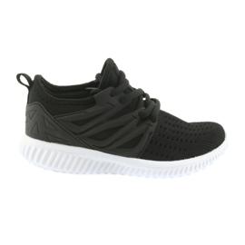 Bartek branț de piele 55114 Pantofi sport negri negru