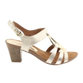 Galben Caprice sandale pentru femei cu ornamentare 28308 oval auriu