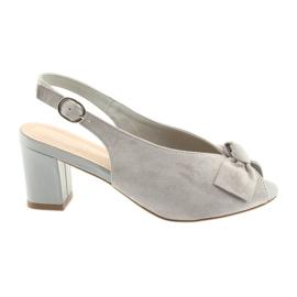 Sandale din piele de piele Sergio Leone 801 gri