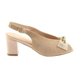 Sandale din piele de piele Sergio Leone 801 maro