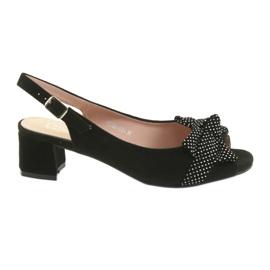 Filippo 788 sandale negre / puncte