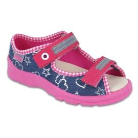 Încălțăminte pentru copii Befado 869X133 albastru roz albastru marin