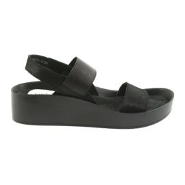 Filippo 767 sandale neagră profilate negru