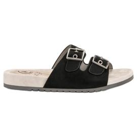 Kylie Papuci de culoare clasic negru