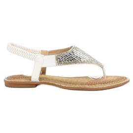 Encor Sandale albe japoneze