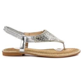 Encor gri Sandale de argint