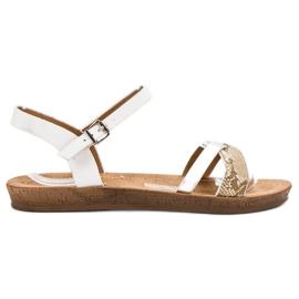 Seastar Sandale plate la modă alb