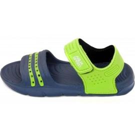 Aqua-Speed Sandale Aqua-viteza Noli navy verde Copii col.48